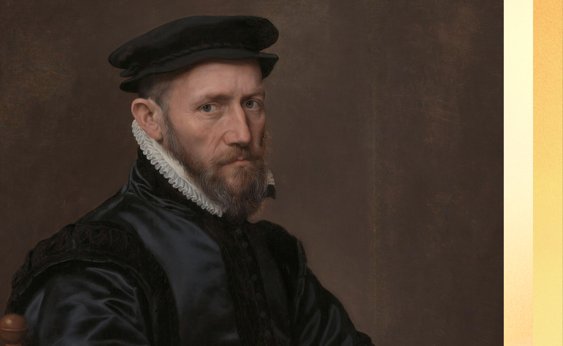 A portrait of The Royal Exchange founder Sir Thomas Gresham (1519 - 1579), by Anthonis Mor