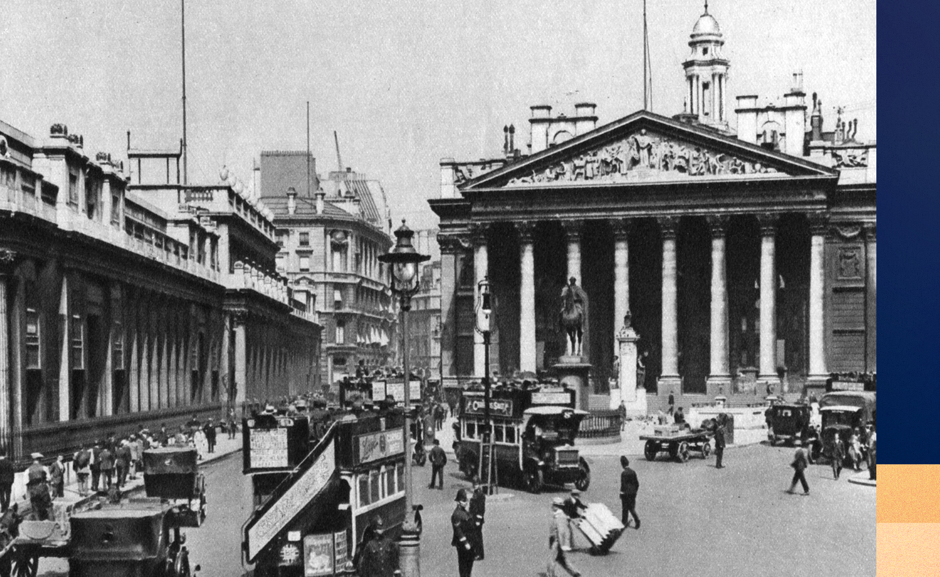 The third (and current) iteration of The Royal Exchange was opened in 1844 by Queen Victoria