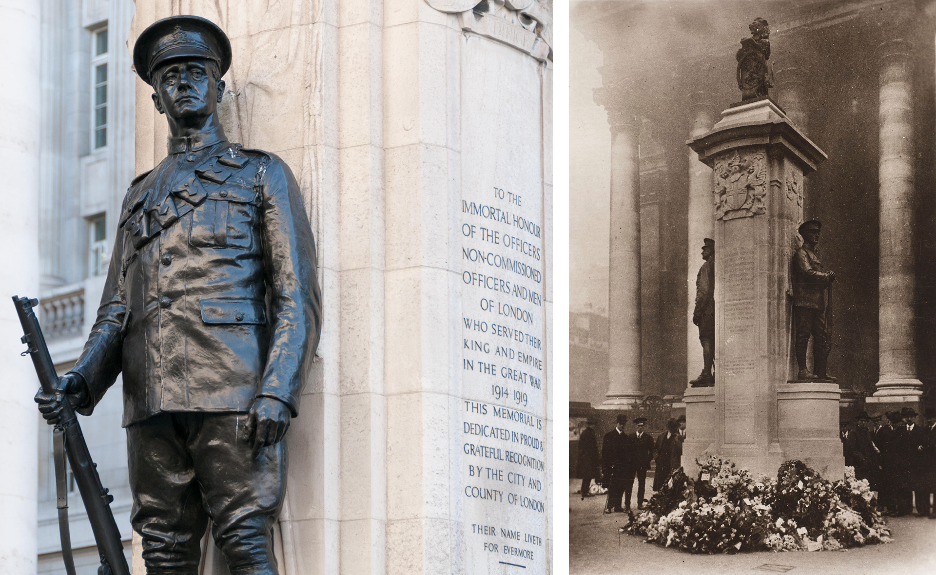 The Troops' Memorial at The Royal Exchange, London